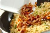 カリカリ豚とゴーヤのチャーハンの作り方3