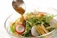 水菜シャキシャキサラダの作り方1
