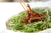 菊菜と牛肉のサラダ風の作り方4