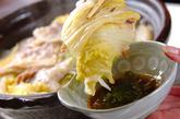 白菜カキ鍋の作り方2