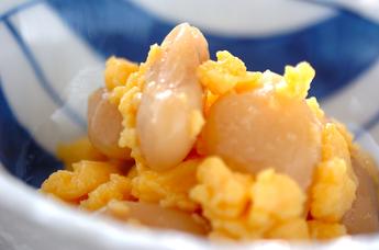 白花豆と卵和え