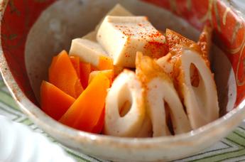 高野豆腐とちくわの含め煮