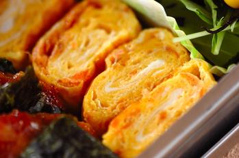 鮭のゴマ油風味卵焼き