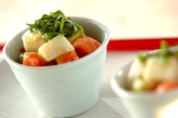トマトアボカド長芋の塩麹マリネ