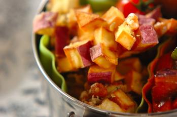 お芋と大豆のかき揚げ