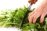 ブリと水菜のサッと煮の下準備2