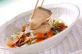 ブリと水菜のサッと煮の作り方3
