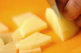 ジャガイモと玉ネギのみそ汁の下準備1