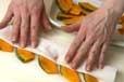カボチャのアーモンド揚の下準備1