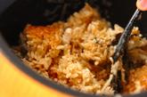 焼きアユの炊き込みご飯の作り方3