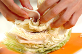 キャベツとゆで豚の塩煮の作り方1