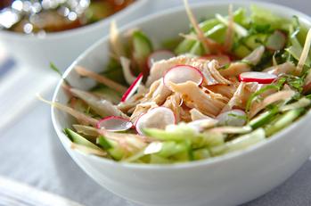 レンジで鶏サラダ