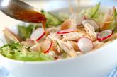 レンジで鶏サラダの作り方1