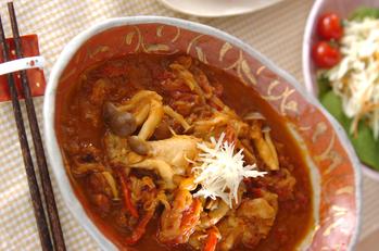鶏手羽元のカレー煮