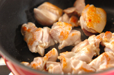 鶏肉とミョウガの煮物の作り方2