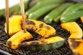 焼き野菜たっぷり茶そばの作り方1