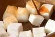 豆腐のおろし汁の下準備1