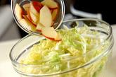 白菜サラダの下準備3