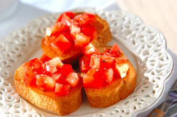 トマトのサッパリブルスケッタ