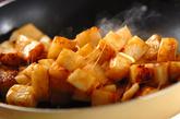 長芋のバターしょうゆ炒めの作り方2