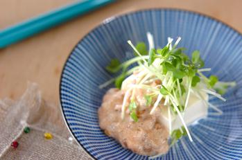 豆腐の納豆マヨのせ