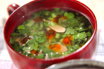 小松菜とツナの中華スープ