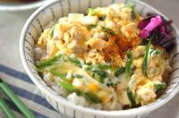 豆腐で量増し親子丼