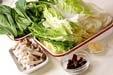 白菜のクリーム煮の下準備2