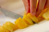 パイナップルとクリームチーズのスティックオープンサンドの作り方2