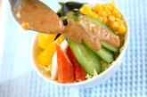 春キャベツとカニのサラダの作り方1