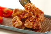 揚げ鶏のたっぷりネギダレがけの作り方3