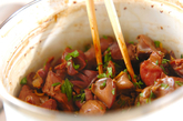 鶏もつの山椒煮の作り方2