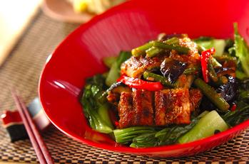 ウナギと野菜のスタミナ炒め
