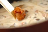 鮭とキノコの和風クリーム丼の作り方3