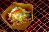 白菜とカニカマの甘酢和え