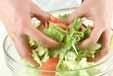 フレッシュ野菜のサラダの作り方1