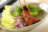 梅風味の豚バラ肉焼きの作り方4