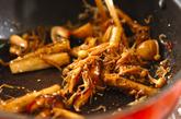 ゴボウとキノコの炒めものの作り方2