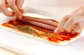 ウインナーパイのピンチョスの作り方1