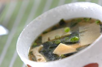 水煮タケノコのみそ汁