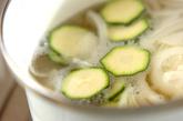 ズッキーニのエスニックスープの作り方1