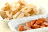 レンコンのピリ辛ガーリック炒めの作り方1