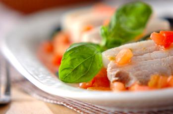 ゆで豚・イタリアンソース