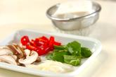 揚げ豆腐の甘辛炒めの下準備1