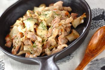 鶏とエリンギの塩麹炒め