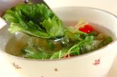 レタスのホタテ風味スープの作り方1
