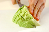 野菜のホイル焼きの下準備1