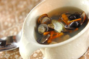 シジミのコンソメスープ