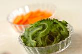 野菜と豆腐の炒め物夕食の作り方1