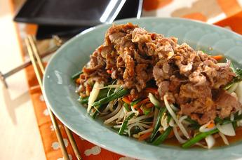ジンギスカン風ラム肉の炒め物